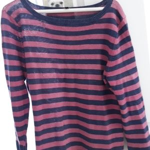 Talbots stribed sweater